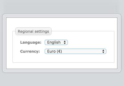 Dodatkowy język / waluta